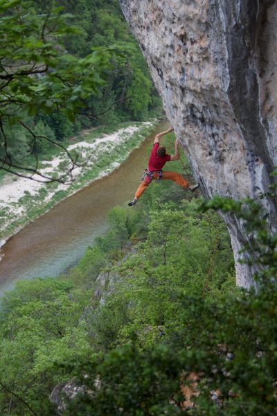 """Abracadabac"" 7c, Gorges du Tarn"